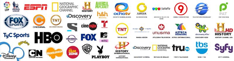 Exemple de chaines proposées par Mega TV Player